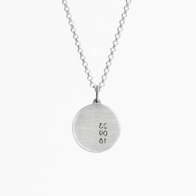 Date Medallion Necklace