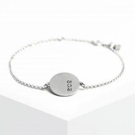 Date Medallion Bracelet