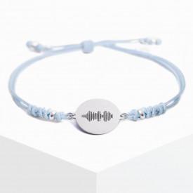 Voice Medallion Bracelet - Blue