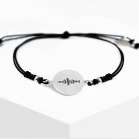 Voice Medallion Bracelet - Black