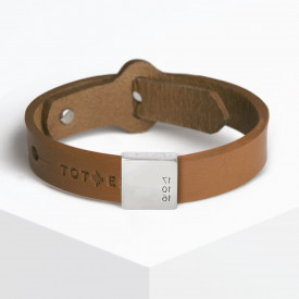 Leather Bracelet + Date Charm