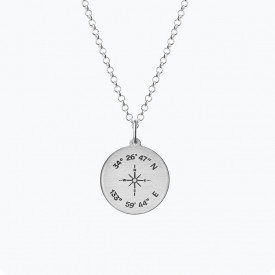 Coordinates Medallion Necklace