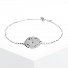 Coordinates Medallion Bracelet